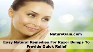 Easy Natural Remedies For Razor Bumps To Provide Quick Relief