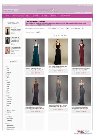 Long bridesmaid dresses | Bridesmaidwire.com