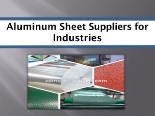 Aluminum Sheet Suppliers - SinoAluminum