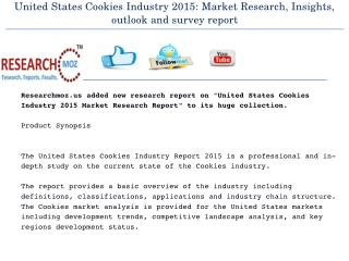 United States Cookies Industry 2015 Market Research Report