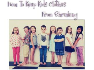 How to Keep Kids Clothes From Shrinking