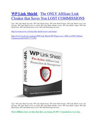 WP Link Shield  review demo & BIG bonuses pack