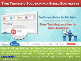 Time Tracking Solution For Small Businesses | CloudBooks
