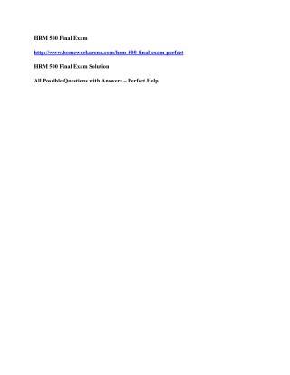 FIN 534 Final Exam Solutions