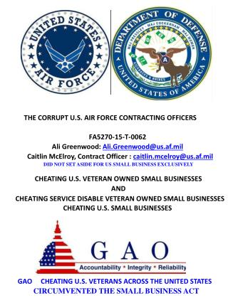 Blog 53 USAF 20150810 PRE-AWARD GAO PROTEST AGAINST DEPARTMENT OF AIR FORCE VIOLATING SMALL BUSINESS ACT RFQ  FA5270-15-