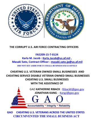 Blog 56 USAF 20150810 PRE-AWARD GAO PROTEST AGAINST DEPARTMENT OF AIR FORCE VIOLATING SMALL BUSINESS ACT  FA5209-15-T-01