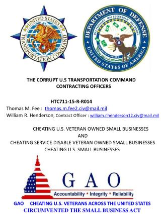 Blog 59 20150810 GAO Pre Award Protest Agains US Transportation Command  HTC711-15-R-R014