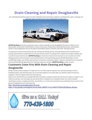 Drain Cleaning Douglasville GA
