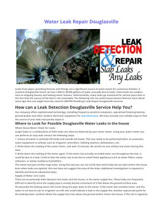 Leak Repair Douglasville