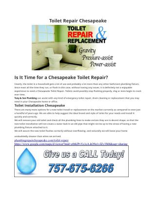 Toilet Repair Chesapeake