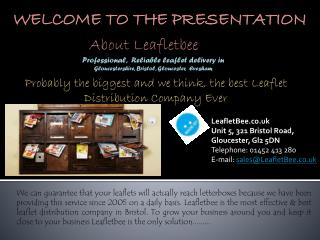 Leaflet Distribution Gloucestershire