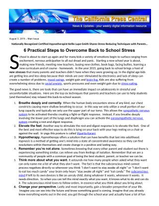 6 Practical Steps to Overcome Back to School Stress
