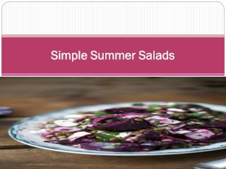 Simple Summer Salads