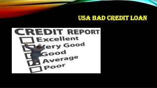 USA Bad Credit Loan