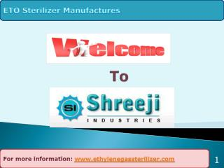 Introduction to eto sterilizer and Sterilization process