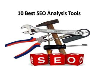 10 Best SEO Analysis Tools