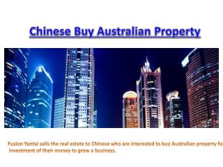 Selling Australian Property In China