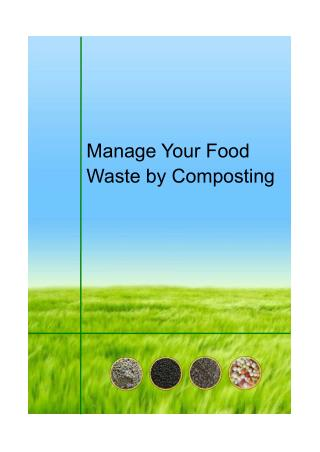 Manage Your Food Waste by Composting