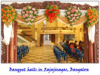 Banquet halls, Party halls in Rajajinagar, Bangalore