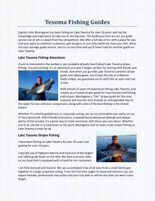 Texoma Fishing Guides
