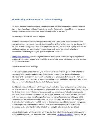 Ways to get Choose Toddler Knowledge?