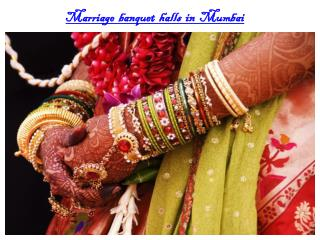 Marriage banquet halls in Mumbai