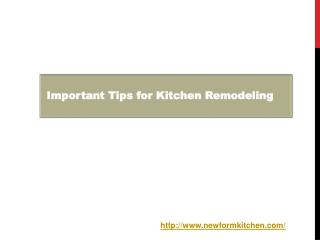 Important Tips for Kitchen Remodeling