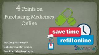 4 points on purchasing medicines online