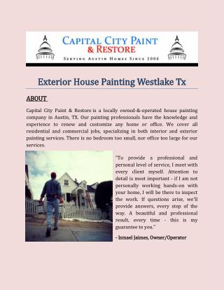 Exterior House Painting Westlake Tx