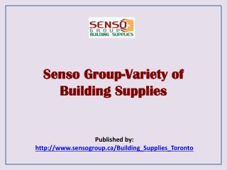 Variety Of Building Supplies