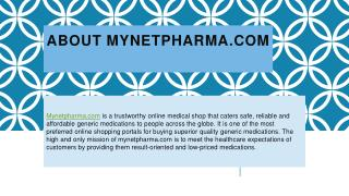 Mynetpharma - Buy Generic Medicines online