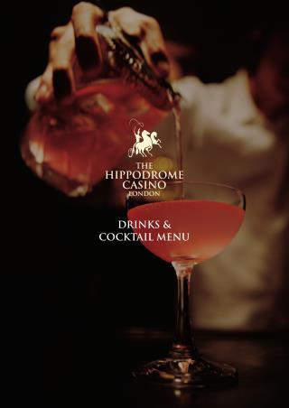 Drink & Cocktails Menu - Hippodrome Casino