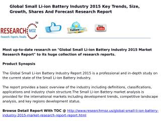 Global Small Li-ion Battery Industry 2015 Market Research Report