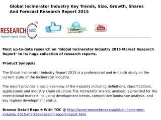 Global Incinerator Industry 2015 Market Research Report