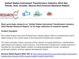 United States Instrument Transformers Industry 2015 Market Research Report