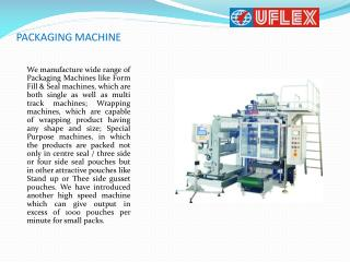 Which Are Leading Manufacture Packaging machine in India