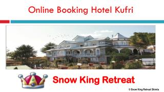 Online Booking Hotel Kufri