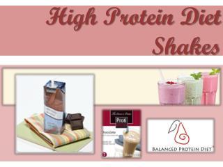 High Protein Diet Shakes