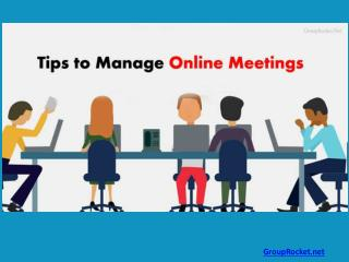 10 Tips to Manage Online Meetings Better