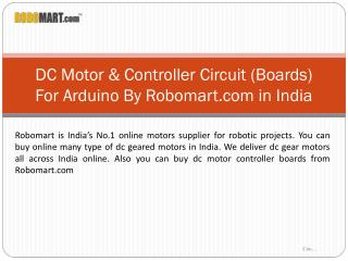 DC Motor & Controller Circuit Boards In India