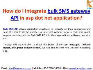 How to Integrate Bulk SMS API in ASP.NET Application