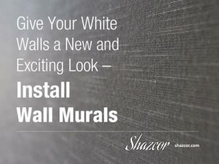 Personalise Your Space with Custom Wall Murals
