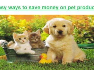 Easy ways to save money on pet products