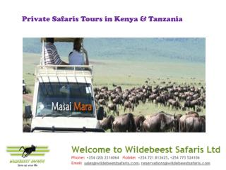 Private Safaris Tours in Kenya & Tanzania