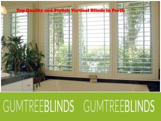 Stylish Vertical Blinds