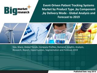 The global event driven patient tracking systems market is estimated to grow at a CAGR of 21.1% from 2014 to 2019