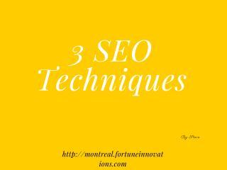 3 SEO Techniques