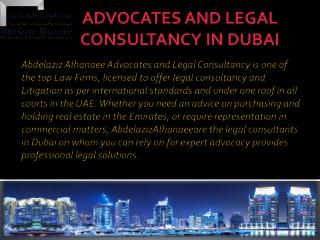 Experienced legal Consultants at top Law Firm Dubai
