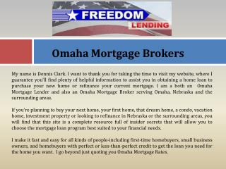 Omaha Mortgage Brokers