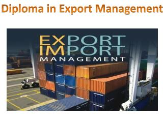 Diploma in Export Management